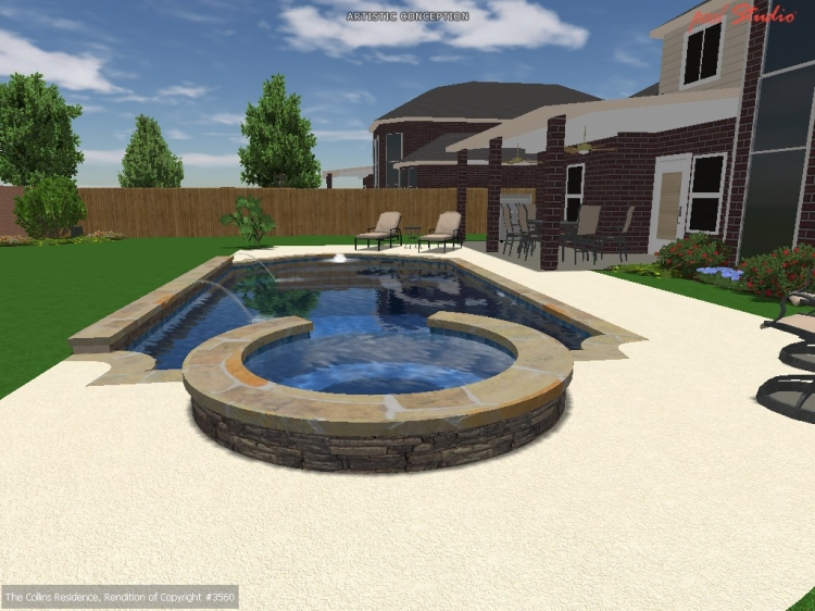 3d design image pool design photo gallery cypress for Pool design 3d