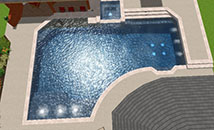 3D Model of Pools in Cypress TX