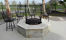 Outdoor BBQ Pit - outdoor kitchens cypress